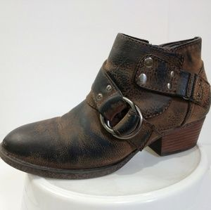 Sonoma distressed booties 6.5 brown ankle boots